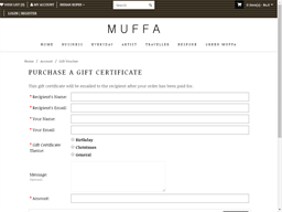 Muffa gift card purchase