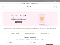 Kikki.K gift card purchase