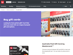 Australia Post Load & Go Travel Card gift card purchase