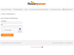Flower Power gift card balance check