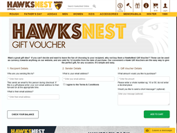HawksNest gift card purchase