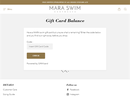 Mara Swim gift card balance check