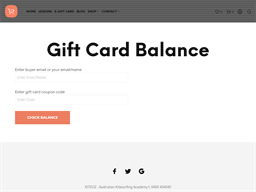 Kite Oz gift card balance check