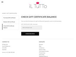 iL Tutto gift card balance check