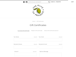 Une Olive en Provence gift card purchase