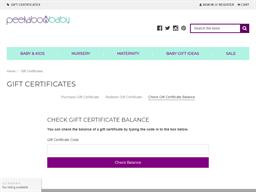 Peekaboo Baby gift card balance check