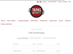 Tapas Market gift card purchase
