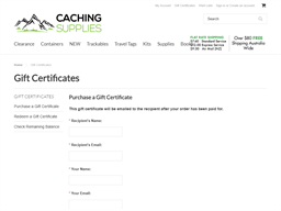 Caching Supplies gift card purchase
