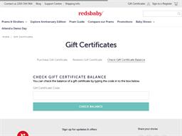 Redsbaby gift card balance check