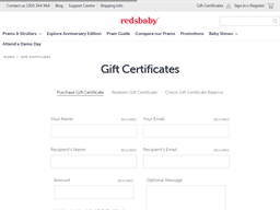 Redsbaby gift card purchase
