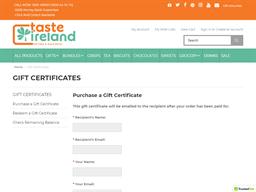 Taste Ireland gift card purchase