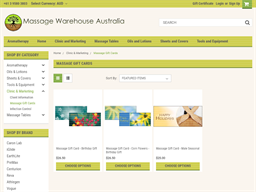 Massage Warehouse gift card purchase