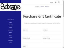 Sobrane gift card purchase