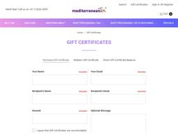 Mediterranean Tan gift card purchase