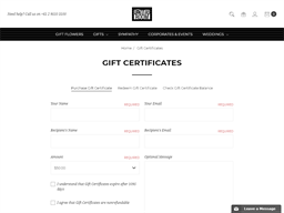 The Flower Room Newtown Boutique Florist gift card purchase