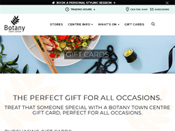 Botany Town Centre gift card purchase