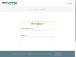 HoIP Connect gift card balance check