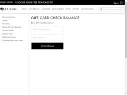 Origins gift card balance check