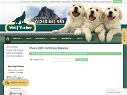 WolfTucker.co.uk gift card balance check