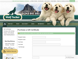 WolfTucker.co.uk gift card purchase