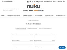 NUKU gift card purchase