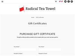 Radical Tea Towel gift card purchase