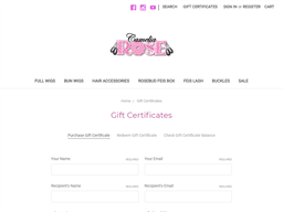 Camelia Rose Wigs gift card purchase