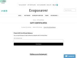 Esupasaver gift card balance check
