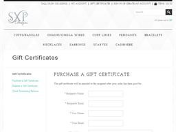 SXP Designs gift card purchase