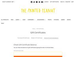 The Printed Peanut gift card balance check