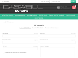 Caswell Europe gift card purchase