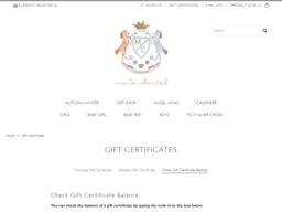 Marie Chantal gift card balance check
