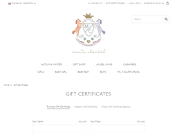 Marie Chantal gift card purchase