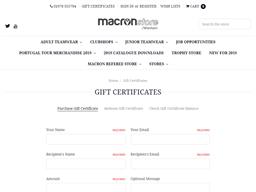 Macronstore Wrexham gift card purchase