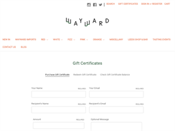 Wayward Wines gift card purchase