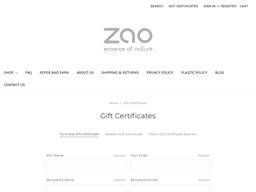 Zao Makeup gift card balance check