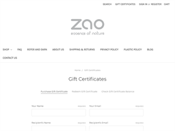 Zao Makeup gift card purchase