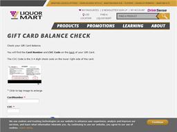 Manitoba Liquor Mart gift card balance check