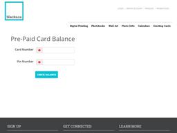 Blacks.ca gift card balance check