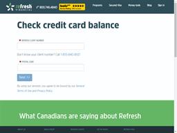 Refresh Financial gift card balance check