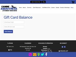 Canine Aqua Fitness gift card balance check