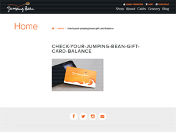 Jumping Bean Coffee gift card purchase