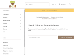 Nest gift card balance check