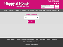 Happy at Home Support Services gift card purchase