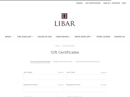 Libar gift card purchase