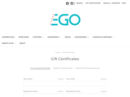 Stroked Ego gift card purchase