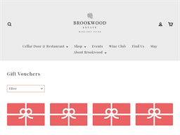 Brookwood Estate Winery and Cafe gift card purchase