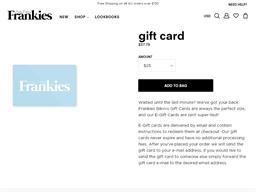 Frankies Bikinis gift card purchase