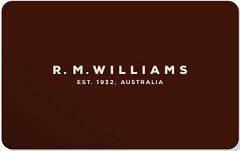 R.M.Williams gift card design and art work
