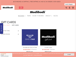 Modibodi gift card purchase